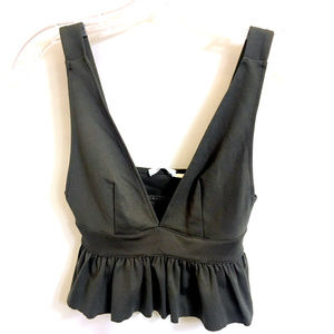 Ruffled Cropped Cami Bralet Bralette  - New